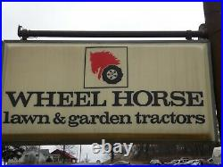 Vintage Wheel Horse Lighted Dealer Sign 6' x 3' Original not a reproduction