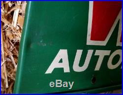 Vintage Whitaker Display Sign Rack Service Gas Station Automotive Cable Service