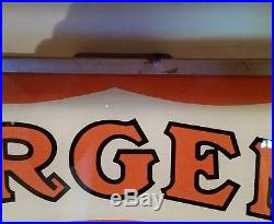 Vintage sargent paint lighted sign reverse painted advertising light