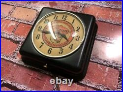 Vtg Ge Oilzum Oil-old Gas Station Advertising Display Wall Clock Sign-esso-mobil