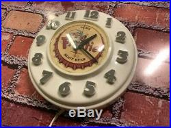 Vtg Telechron-ge Frostie Root Beer Soda Store Advertising-diner Wall Clock Sign