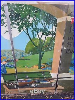 Winchester Store 5 Panel Window Sign Display Junior Trap Shooting 22 Rifle Woman